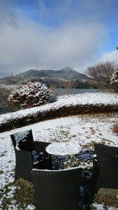 ベンチと雪